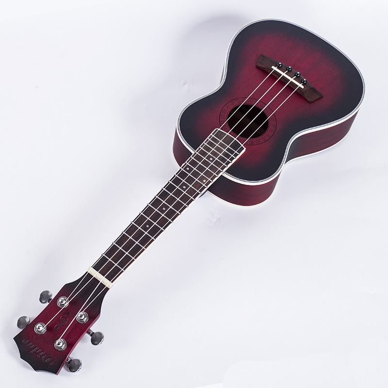 New 23'' Rose Ukulele 4 Strings Acoustic Guitar Hawaii Mini Ubass Mahogany Classical 18 tone travel Guitar Instruments guitalele savarez 510 cantiga series alliance cantiga ht classical guitar strings full set 510aj