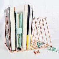 Or/Rose Or Électrolytique Bookend Bureau Organisateur De Bureau Home Office Serre-livres Livre Titulaire Noir Livre Stand