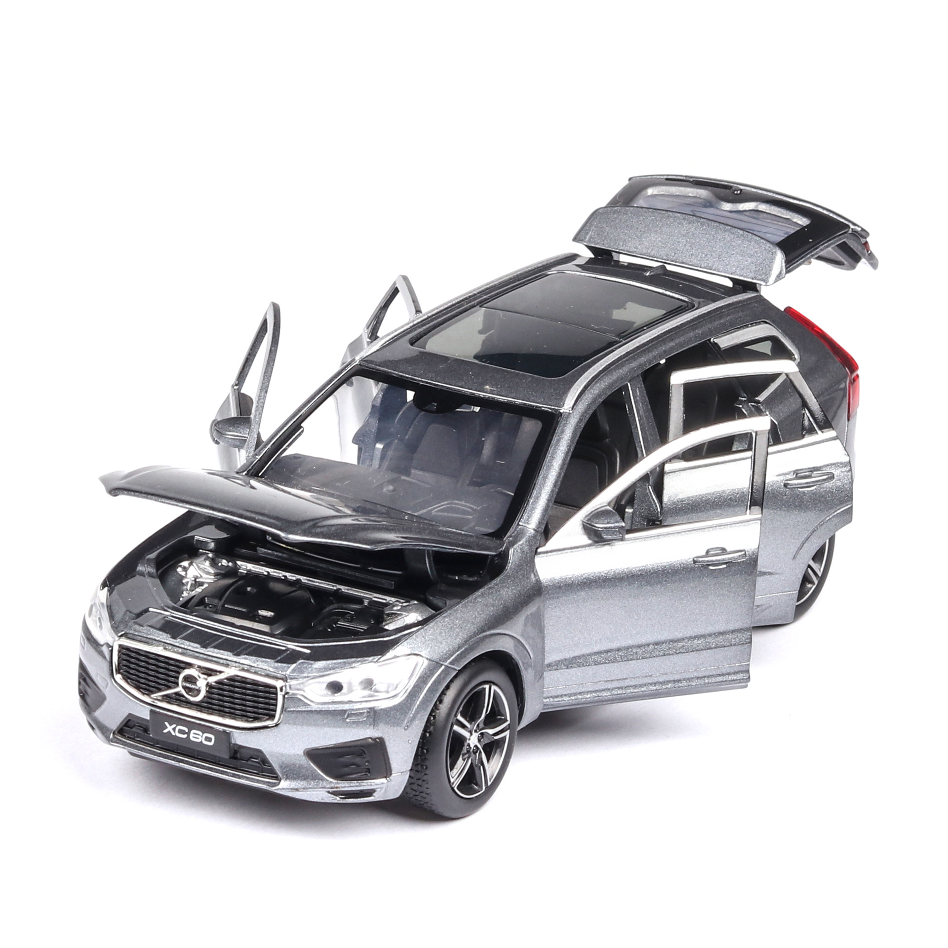 High Simulation 1:32 Alloy Pull Back Toy XC60 Model,off-road 6 Open Door,simulation Sound And Light,hot Collection Model