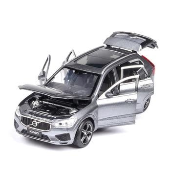 Wysoka symulacji 132 stop wycofać zabawki XC60 model, off-road 6 otwarte drzwi, symulacja dźwięku i światła, gorąca model kolekcjonerski