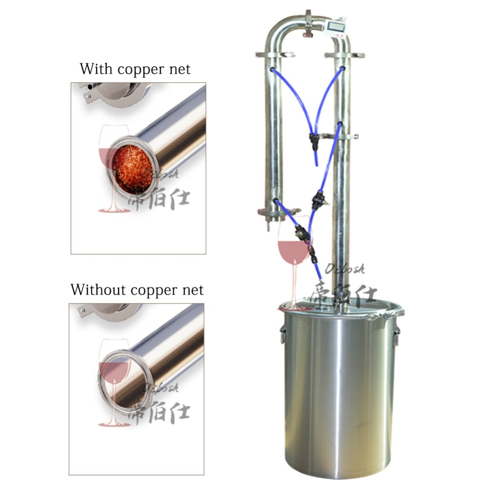 12L/20L/35L/60L Moonshine Homebrew distillateur vin bière Vodka alcool distillateur fait maison vinification équipement en acier inoxydable - 2