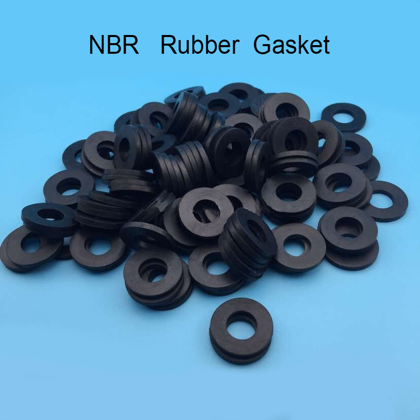 1000pcs M6 NBR rubber gasket Flat rubber washer 6x12x2 ring gasket ...