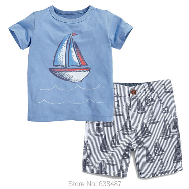 ae8f531cd9a7 New 2018 Baby Boys Clothing Set Summer Brand Quality 100% Cotton ...