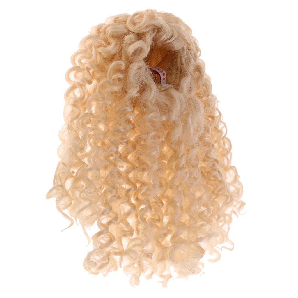 DIY Girl Fashion Doll Gold Curly Hair Wig Accessories For 1/6 BJD Dollfie DOD MSD AOD LUTS SD DZ Doll Children Kids Toys Gift
