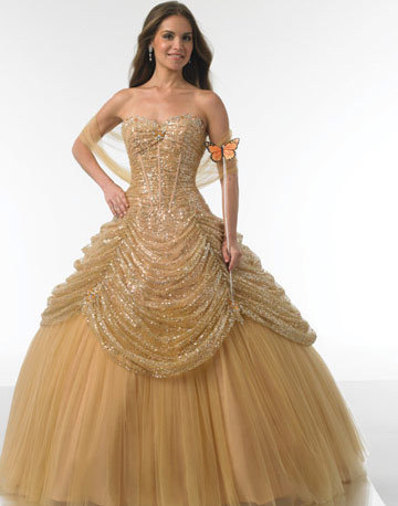 Fashion Ball Gowns Tulle Sweetheart Ruffle Floor Length Evening Dress For Wedding Party Quinceanera