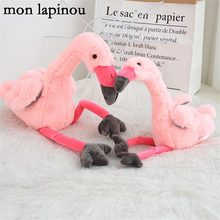 flamingo plush toy stuffed animal soft doll plush bird doll kids toys wedding gift home decor christmas birthday gift for child(China)