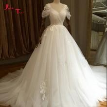 Jark Tozr Custom Made Wedding V-neck Backless Bride Dresses