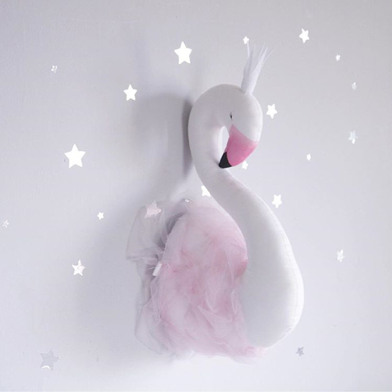 цена Swan Wall Hanging Doll Princess Hug Baby Sleep Comforting Plush Stuffed Room Decoration Toys Birthday Xams Gift Dash Pillow онлайн в 2017 году