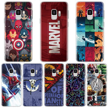 Marvel Avengers Comics Case For Samsung Galaxy A50 A30 A5 A7 A9 A8 A6 Plus 2018 A3 A40 A70 Note 8 9 4 Accessories TPU Coque(China)