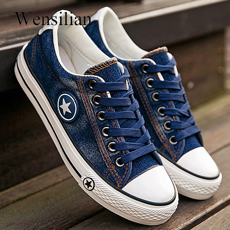 Vulcanize Shoes Denim Sneakers Women Basket Femme Canvas Shoes Anti Slip Trainers Women Ladies Tenis Feminino Zapatos Mujer