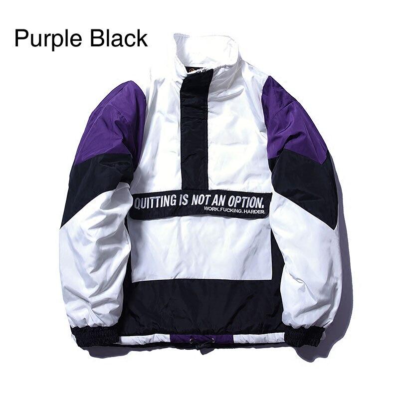 Vintage Color Block Patchwork Pullover Jackets 1