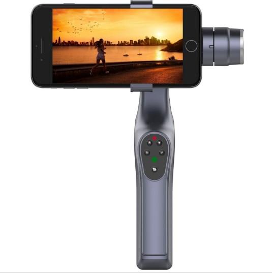 JJ-1S Selfie 2-Axle Brushless Handheld Gimbal Phone Stabilizer 330 Degree Smartphone Holder Mount yuneec q500 typhoon quadcopter handheld cgo steadygrip gimbal black