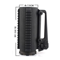 Tactical Military Multifunction Aluminum Detachable Carry Battle Rail Mug Cup Support Holder