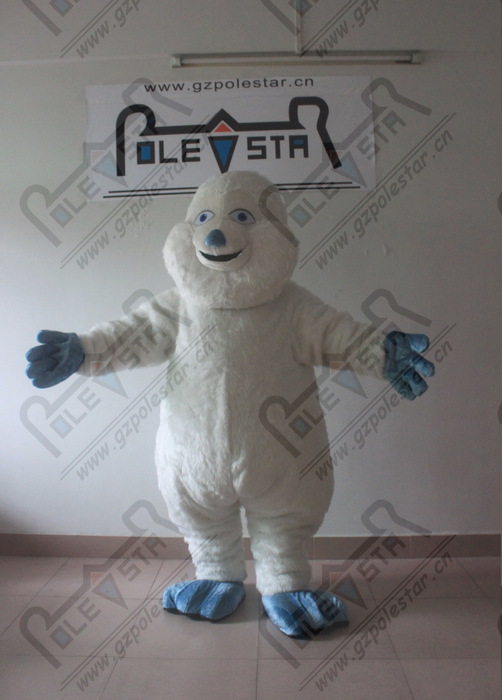 Adaptable Blue Arms And Shoes Yeti Mascot Costume Quality White Apes And Monkeys Mascot Costumes Excellent In Quality