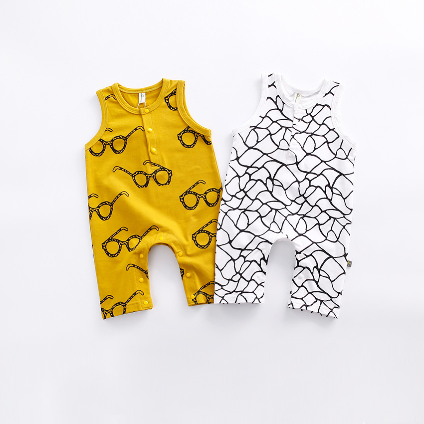 Summer Baby Rompers 100% Tiny Cottons 2017 New Design Sleeveless Baby Summer Romper Newborn Infant Costume baby rompers o neck 100