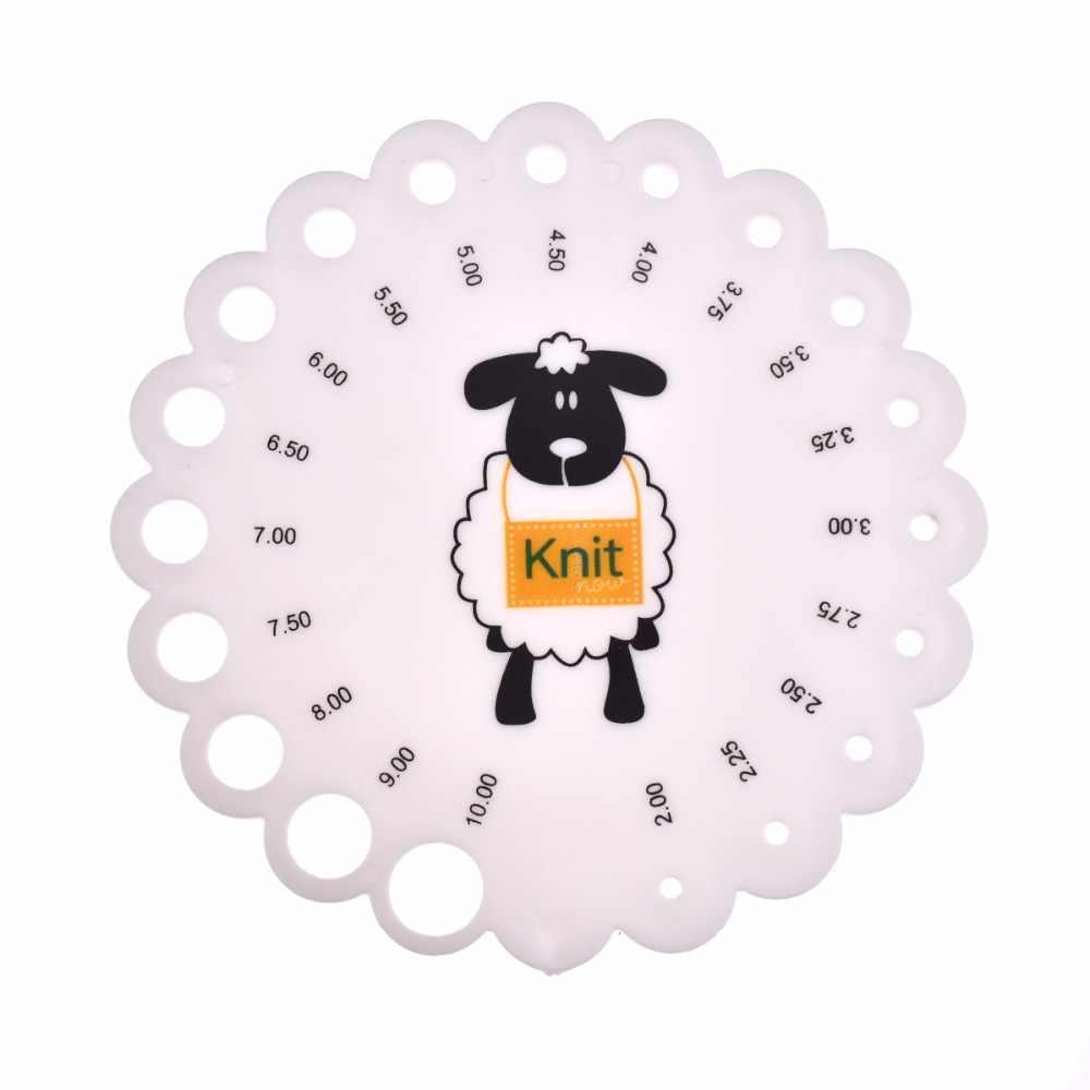 Crochet Hook Alat Ukur Merajut Jarum Panduan Ukuran Kokoh Acrylic dengan Lubang Ukuran Ditunjukkan untuk DIY Kerajinan Alat