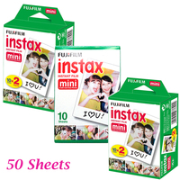 50pcs Fujifilm Fuji Instax Mini 8 Instant Film White Sheet For Polaroid 7s 8 10 20