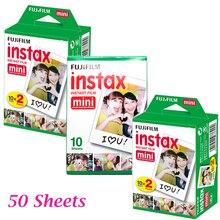 50 шт. fujifilm fuji instax mini 8 мгновенных фильм белый лист для polaroid 7 s 8 10 20 25 50 s sp1 50i fujifilm instax mini camera