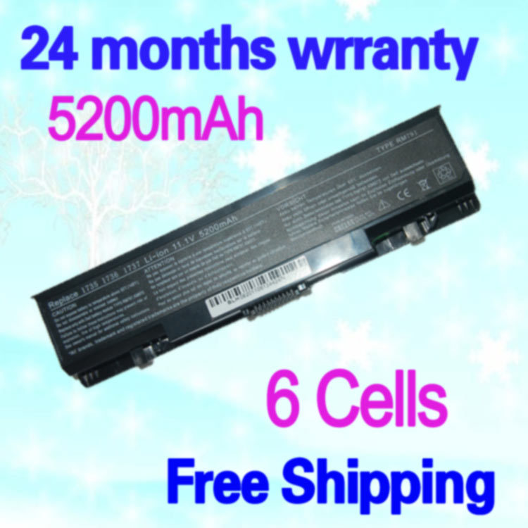 JIGU High Capcity Black 6 Cells Laptop Battery  FOR DELL 312-0708 KM973 MT335 PW823 FOR Studio 1735 FOR Studio 1737