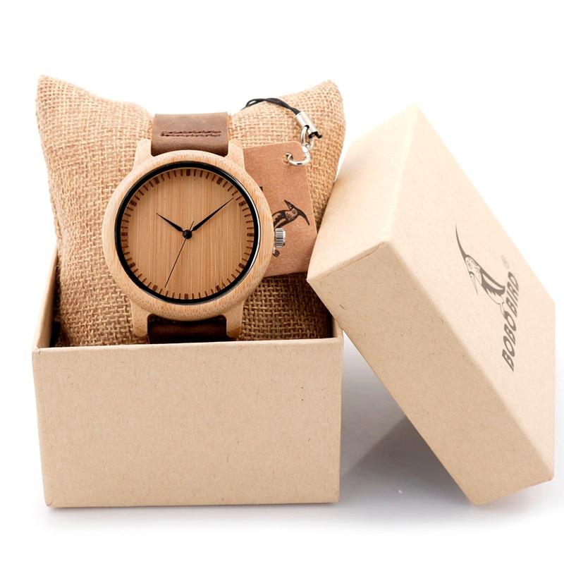 Luxury Brand BOBO BIRD Men Bamboo Wood Watches Men an