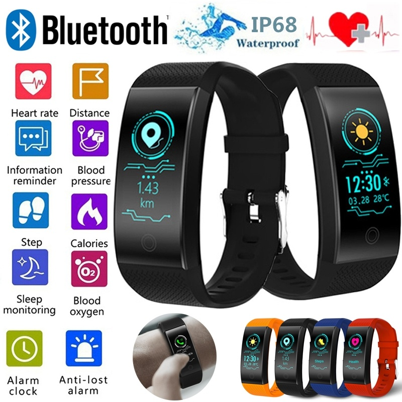 Fitness Sport Smart Watch Bracelet For Men Women Color Heart Rate Pedometer Smart Band Waterproof SmartWatch Tracker Android IOSFitness Sport Smart Watch Bracelet For Men Women Color Heart Rate Pedometer Smart Band Waterproof SmartWatch Tracker Android IOS