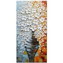 3d масло Картины на холсте элегантная белая ваза абстрактный Книги по искусству работы стене Книги по искусству для гостиной, спальня, столовая рамке растягивается