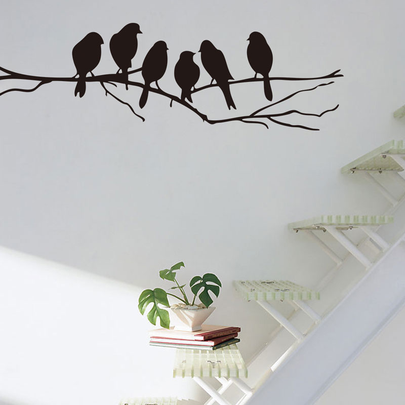 Branches and birds sticker self adhesive Waterproof Living room bedroom background home  ...