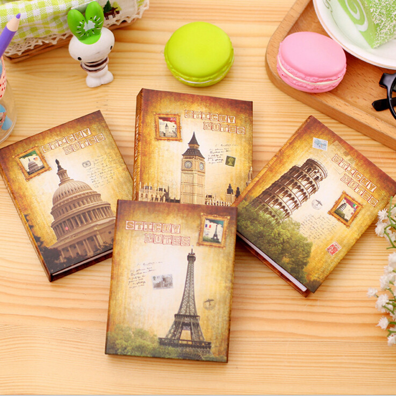 1 Pc Gebäude Stil Mini Notebook Papier Britischen Soldat Tagebuch Tasche Pad Eiffelturm Skizze Buch Pocketbook Memo Pad Schreibwaren Notebooks Office & School Supplies