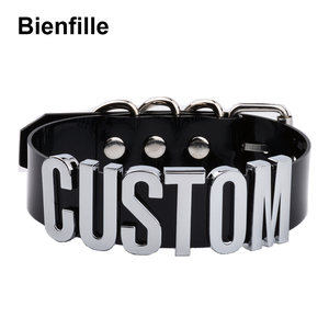 Image 3 - Customized PVC Choker Collar Necklace Custom Personalized Name Choker Cosplay Choose Letters Necklace Women