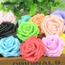 50 adet 7CM Yapay Köpük Gül Çiçek Başları Için Ev Düğün Dekorasyon Scrapbooking PE Çiçek DIY Öpüşme Topları Zanaat çok