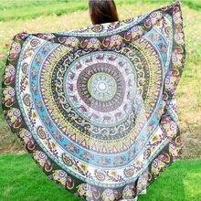 150cm Summer Large Tapestry Outdoor Beach Towel Microfiber Printed Round Beach Towels Women swimming Sunbath Blanket covers
