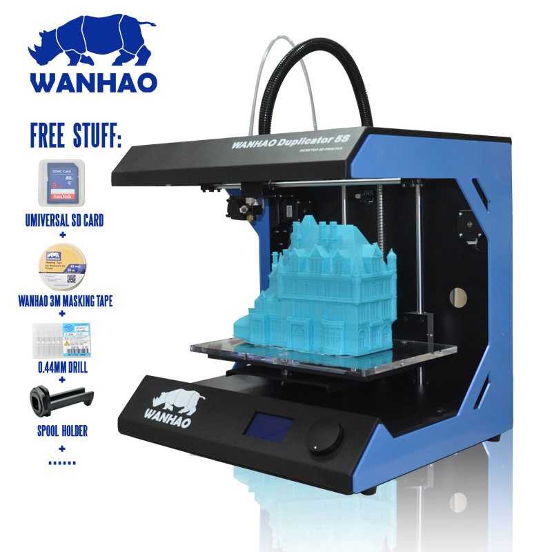 Industrial level! Printing Size:295*195*205mm WANHAO D5S Mini 3D printer,Metal Frame Reprap Kit in High Precision,Desktop cactus cs c723bk