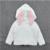 2017 Novas Crianças Blusas de Malhas De Algodão Das Meninas Dos Meninos Camisola Com Capuz Orelhas de Coelho Camisola Crianças Roupas de Inverno Infantil