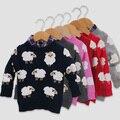 Los bebés del suéter de 2015 nueva de la llegada a estrenar partido rojo rosa ropa de los niños de alta calidad ropa infantil menina agasalho