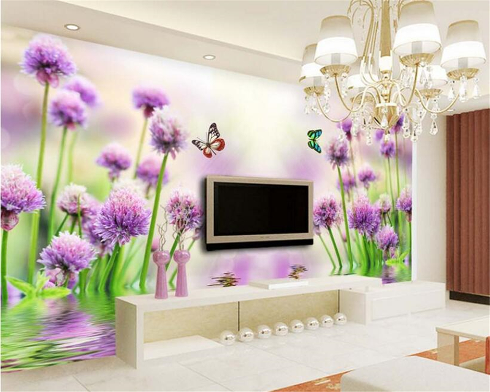 Compare Prices On Purple Flower Wallpaper Online Shopping Buy Low