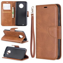 Business Solid Color PU Leather Flip Case on For Moto G6 Mobile Phone bag Funda Cases SFor Motorola Plus Wallet Cover Coque<