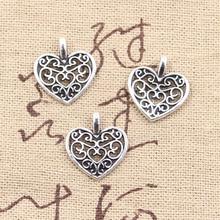 ФОТО wholesale 150pcs charms hollow heart 16*14mm antique pendant fit,vintage tibetan silver,diy for bracelet necklace