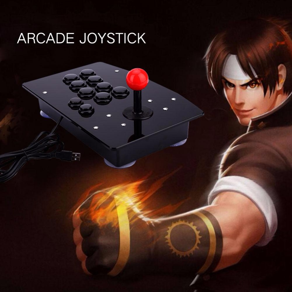 цена на Gasky arcade joystick 10 buttons pc controller computer game Arcade Sticks new King of fighters Joystick Consoles Joystick Gift