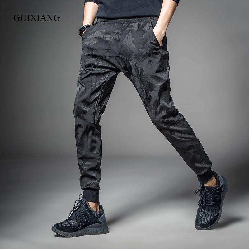 2017 Neue Frühling Und Herbst Stil Männer Hosen Mode Lässig Haren Camouflage Hose Männer Lose Ganzkörperansicht Hose Größe M-4xl Und Ein Langes Leben Haben.