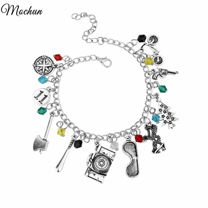 MQCHUN STRANGER THINGS Crystal Beads Alloy Pendant Fashion Alloy Bracelet Christ