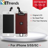 For IPhone 5S Original LCD Display Digitizer Screen Assembly Touch Screen Digitizer Frame 100 Tested Free