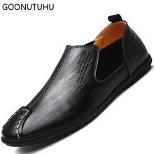 Fashion men's shoes casual leather loafers male spring summer brown and black breathable slip on shoe man platform shoes for men hot 2016 spring new brand men s shoes british style breathable men casual shoes black and white slip on man leather pu shoes