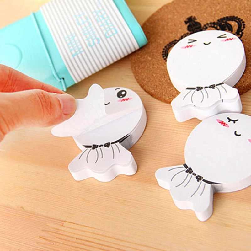 Label Posting School Sticky Note untuk Kantor Sekolah Perlengkapan Alat Tulis DIY Sunny Doll Smily Memo Pad Lengket