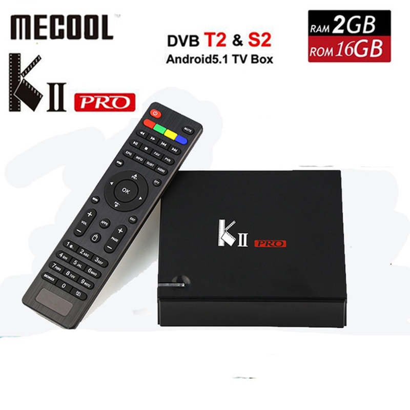 Mecool KII Pro Android 5.1 TV Box 2GB/16GB Support DVB-S2 DVB-T2 Amlogic S905 Quad-Core Bluetooth Wifi UHD 4K 60fps Smart TV Box телевизор philips 49pus6501 60 uhd smarttv android tv серебристый