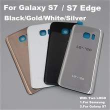 Original For Samsung GALAXY S7 Edge G935 For Galaxy S7 G930 Back Glass Cover Rear Battery Cover Door Case With Two Logo adhesive