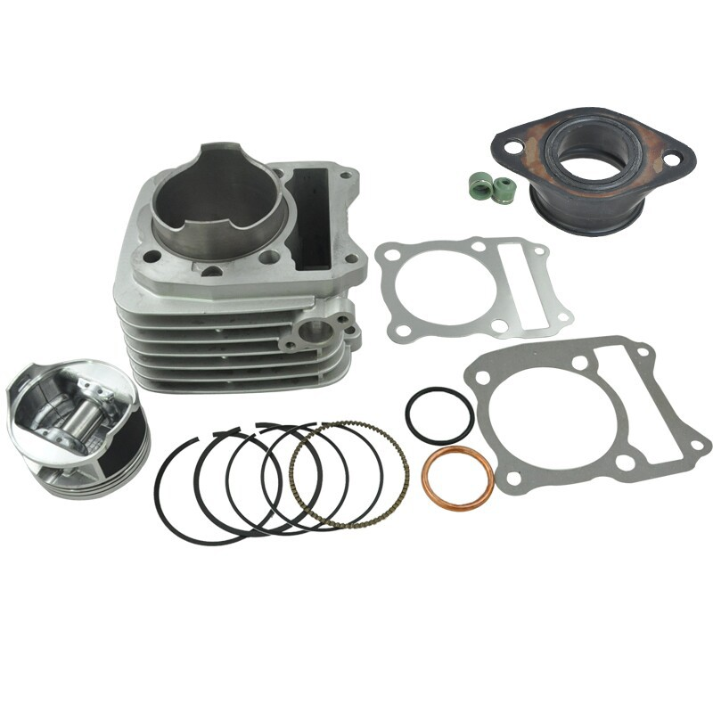 LOPOR High Quality Motorcycle Engine Parts For Suzuki DR200 DF200 VAN200 Cylinder Block & Piston Kit & Gasket & Port Intake NEW parts for changchai zn490q engine gasket piston rings cylinder liner main bearings water temp sender water pump pistons