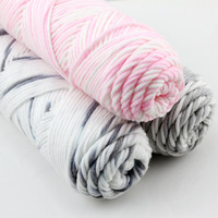 3Pcs 300g Mixed Color Baby Cotton Yarn Natural Soft Milk Thick Yarn For Knitting Wool Crochet