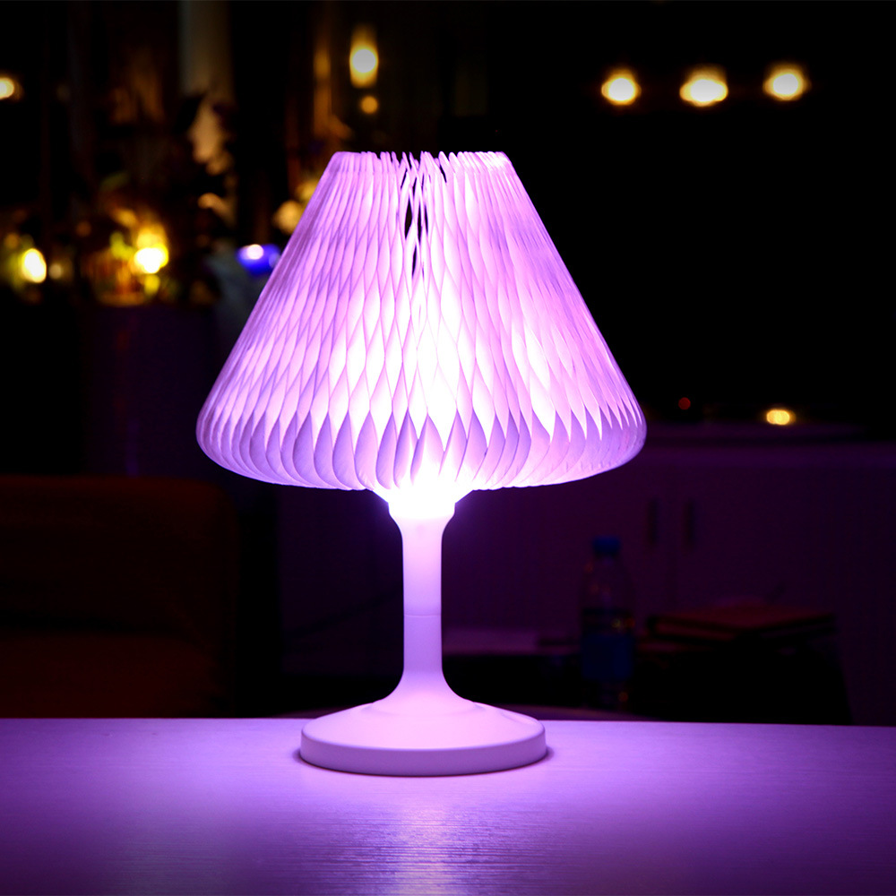 Popular LED USB Rechargeable Night Light Colorful Touch Switch Table Lamp For Home Bedroom Bedside Decor color changing mode 7 color changing mode micro landscape plant light diy potted night light rechargeable rabbit lamp high quality
