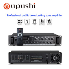 Oupushi Newest PA Big Power Amplifier 180W-660W With 6 Zones Separate Control Audio Amplifiers Mixer