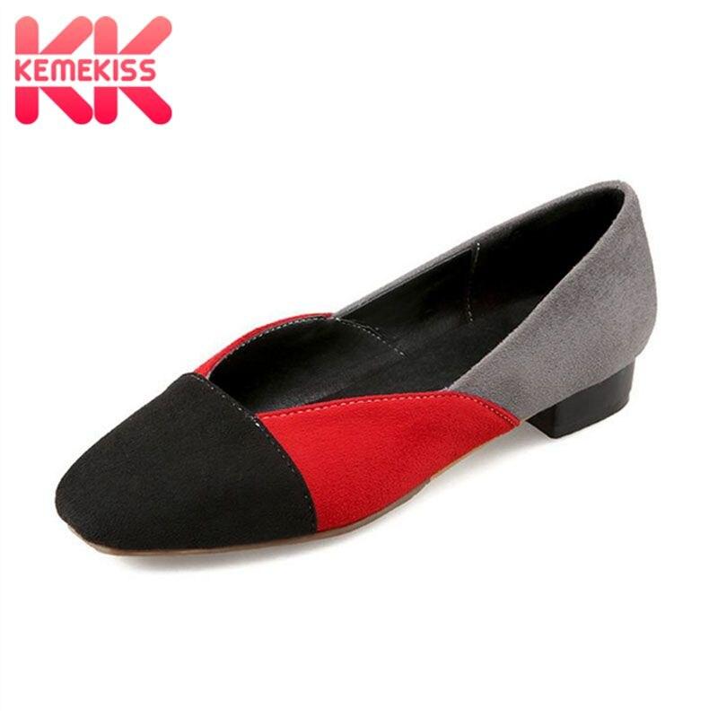Kemekiss Ukuran 31-47 Baru Modis Wanita Berwarna-warni Datar Sepatu Wanita  Datar Wanita Berkualitas Tinggi Sepatu Malas Musim Semi sepatu Musim Panas 52b609f5cd